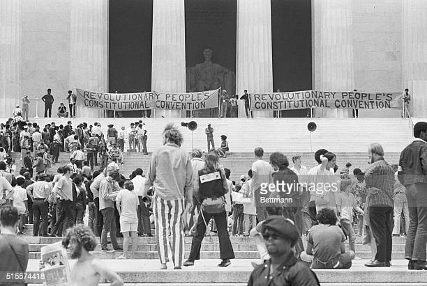At a rally held in front of the Lincoln Memorial in Washington DC members of the Black Panthers demanded a new constitution that would address the...