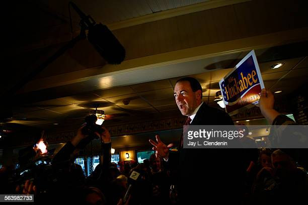 At a restaurant called Lizard's Thicket in Columbia SC former Arkansas Gov Mike Huckabee arrived to a packed house where he met and greeted potential...