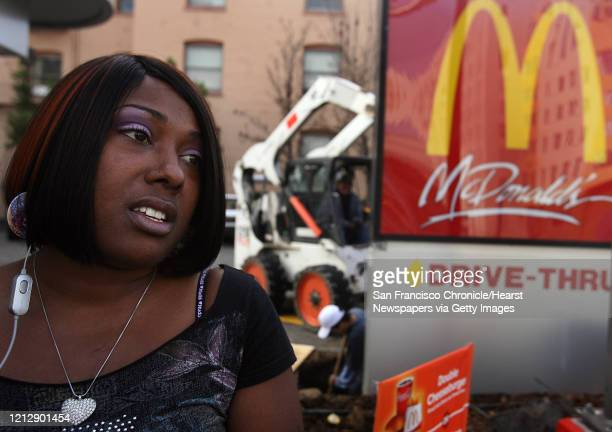 At a riotdamaged McDonald's on January 8 Oakland resident and student Atilda Forbes speaks about the protest Oakland Calif protest of the BART...