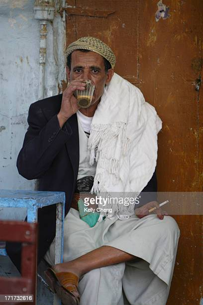 CONTENT] At a tea shop in the bazaar of old Sana'a