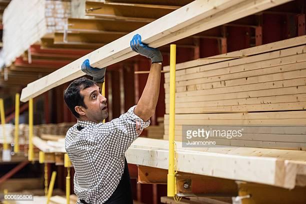 At a timber/lumber warehouse