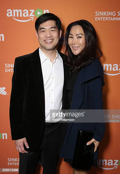 COO at Amazon Studios Albert Cheng and Dori Chang attend Amazon Sinking Ship Daytime Creative Arts Emmy Celebration on April 29 2016 in Los Angeles...
