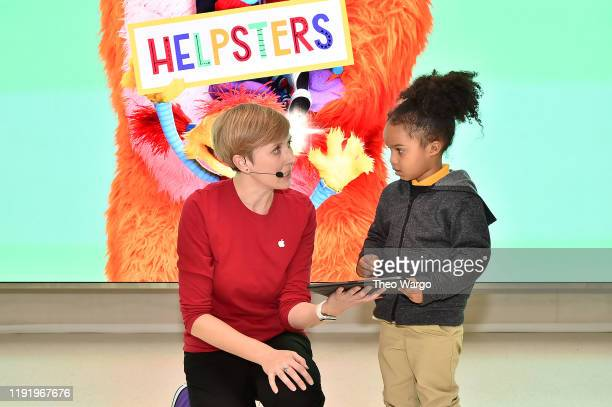 At Apple Fifth Avenue participants take part in an exclusive Today at Apple Session Coding Lab for Kids PreCoding with Helpsters on December 4 2019...