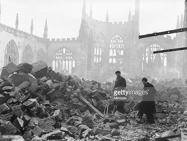 At approximately 740 pm half an hour after the raid began the first of many incendiary bombs landed on the roof of the cathedral The Provost Dick...