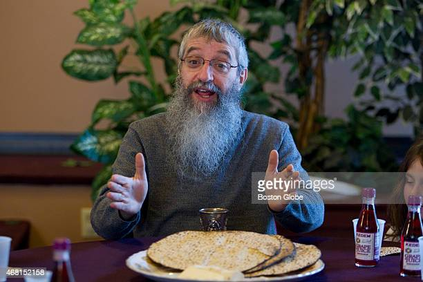 At Beit Chaim Meir Chabad Center of Lexington Mass Rabbi Alter Bukiet taught a special class on the mystical aspects of Passover to Hebrew School...