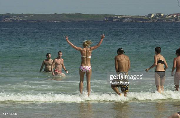 SPEARS at Bondi Beach enjoying the surf BRITNEY is in Australia to promote her latest single Slave 4 You