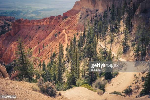 At Bryce Canyon National Park, Peek-a-boo trail