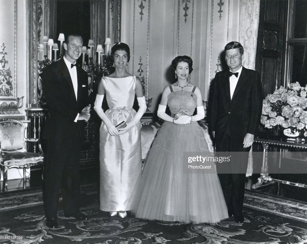 The Kennedys With The Queen : News Photo