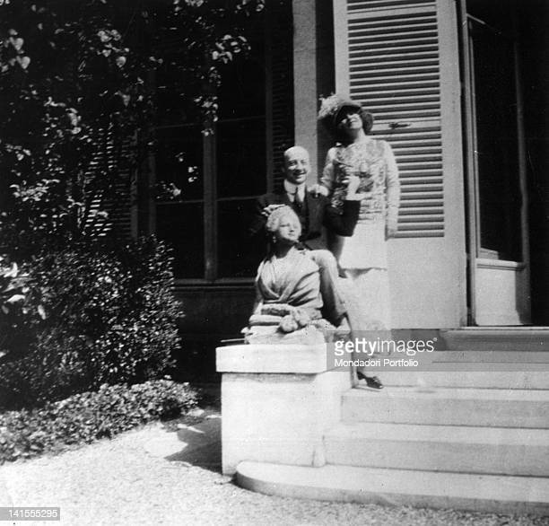 At Capponcina Villa Gabriele D'Annunzio Italian poet and writer with Eleonora Duse Settignano Nineties of the 19th Century