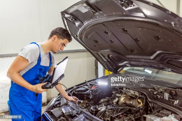 at car service - diagnostic medical tool stock pictures, royalty-free photos & images