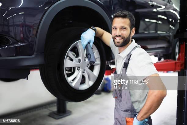 At car service