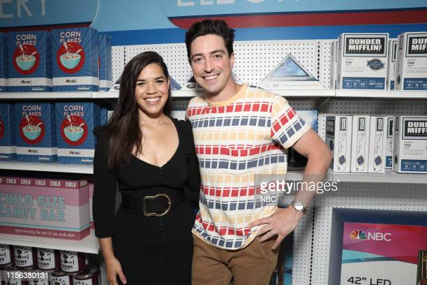 "At Comic-Con"" -- Pictured: America Ferrera, Ben Feldman at the 'Superstore' activation at Hard Rock Hotel, San Diego, Calif. On July 18, 2019 --"