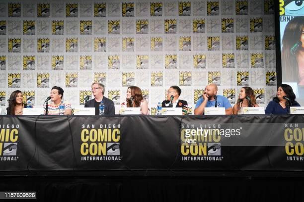 DIEGO 2019 NBC at ComicCon Pictured America Ferrera Ben Feldman Mark McKinney Lauren Ash Nico Santos Colton Dunn Nichole Bloom Kaliko Kauahi at the...
