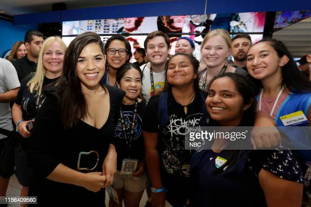 DIEGO 2019 NBC at ComicCon Pictured America Ferrera with fans at NBC's 'Superstore' activation at the Hard Rock Hotel San Diego Calif on July 18 2019