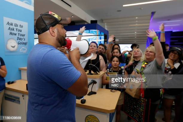 DIEGO 2019 NBC at ComicCon Pictured Colton Dunn and fans at NBC's 'Superstore' activation at the Hard Rock Hotel San Diego Calif on July 18 2019