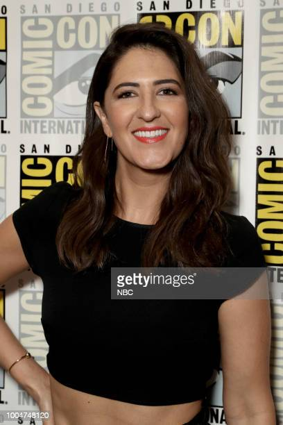 DIEGO 2018 NBC at ComicCon Pictured D'Arcy Carden at the 'The Good Place' Press Room at the Hilton Bayfront San Diego Calif