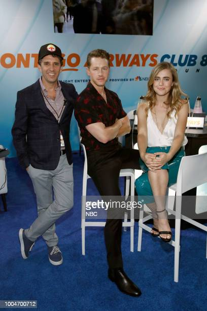 DIEGO 2018 NBC at ComicCon Pictured Jeff Rake Executive Producer Josh Dallas Melissa Roxburgh at the 'Manifest' activation at Hard Rock Hotel San...