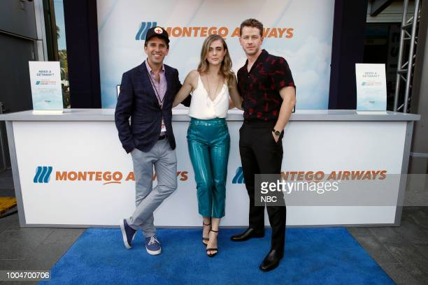DIEGO 2018 NBC at ComicCon Pictured Jeff Rake Executive Producer Melissa Roxburgh Josh Dallas at the 'Manifest' activation at Hard Rock Hotel San...