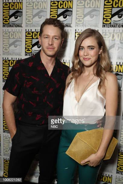 """At Comic-Con"""" -- Pictured: Josh Dallas, Melissa Roxburgh at the 'Manifest' Press Room at the Hilton Bayfront, San Diego, Calif. --"""