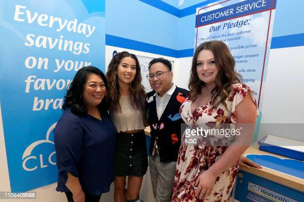 DIEGO 2019 NBC at ComicCon Pictured Kaliko Kauahi Nichole Bloom Nico Santos Lauren Ash at NBC's 'Superstore' activation at the Hard Rock Hotel San...