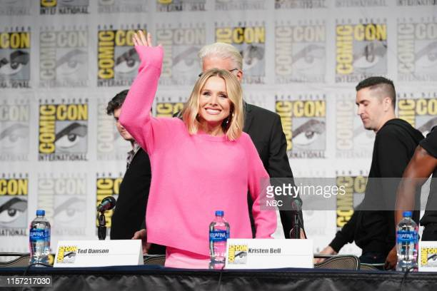 "At Comic-Con"" -- Pictured: Kristen Bell at 'The Good Place' Panel at the Hilton Bayfront, San Diego, Calif. On July 20, 2019 --"