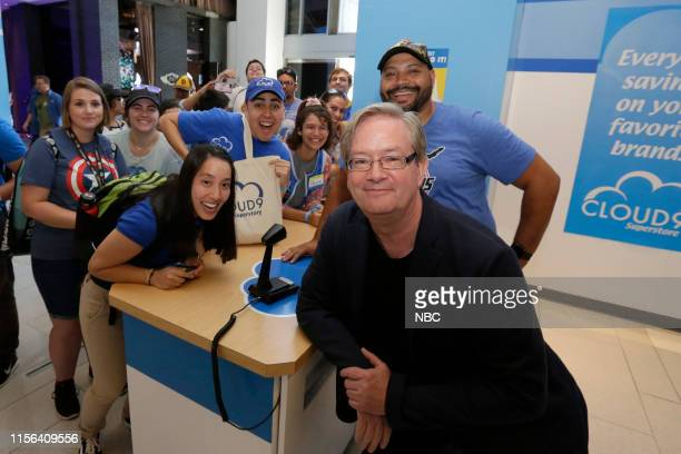DIEGO 2019 NBC at ComicCon Pictured Mark McKinney Colton Dunn with fans at NBC's 'Superstore' activation at the Hard Rock Hotel San Diego Calif on...