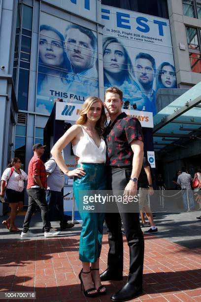DIEGO 2018 NBC at ComicCon Pictured Melissa Roxburgh Josh Dallas at the 'Manifest' activation at Hard Rock Hotel San Diego Calif
