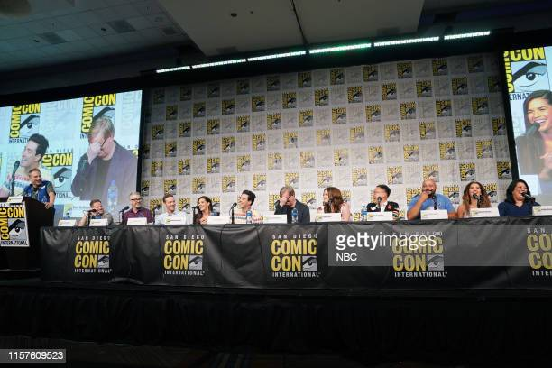 DIEGO 2019 NBC at ComicCon Pictured Michael Schneider Moderator Justin Spitzer Executive Producer Gabe Miller Executive Producer Jonathan Green...