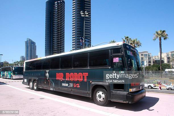 DIEGO 2016 'NBC at ComicCon' Pictured 'Mr Robot' Bus Wrap