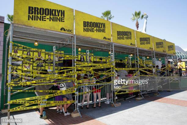 DIEGO 2019 NBC at ComicCon Pictured NBC's 'Brooklyn NineNine' activation at Tin Fish San Diego Calif on July 18 2019