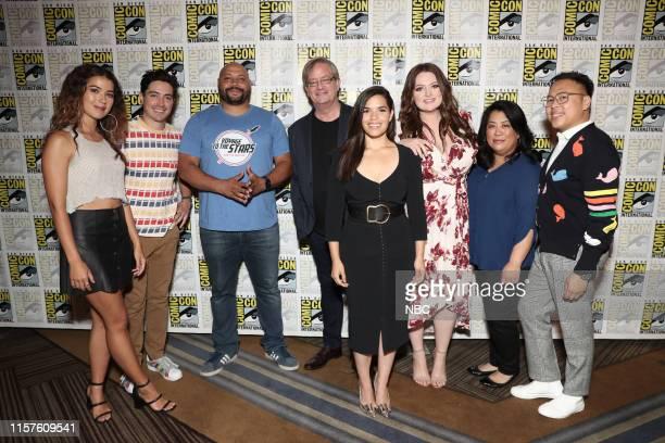 DIEGO 2019 NBC at ComicCon Pictured Nichole Bloom Ben Feldman Colton Dunn Mark McKinney America Ferrera Lauren Ash Kaliko Kauahi Nico Santos at the...