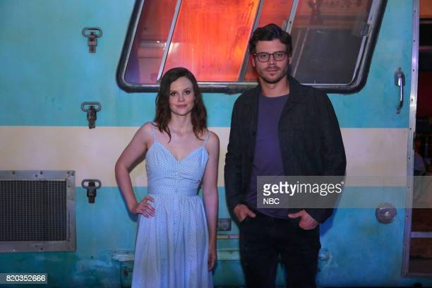 DIEGO 2017 'NBC at ComicCon' Pictured Sarah Ramos François Arnaud at the Midnight Texas Activation San Diego Calif