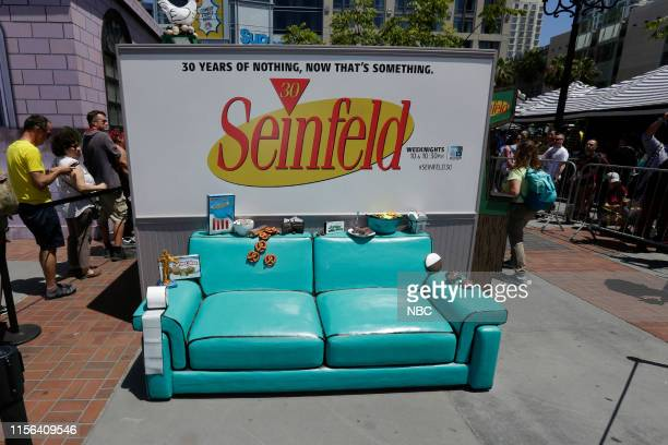 DIEGO 2019 NBC at ComicCon Pictured 'Seinfeld' at NBC's 'Comedy Cafe' at the Tin Fish San Diego Calif on July 18 2019