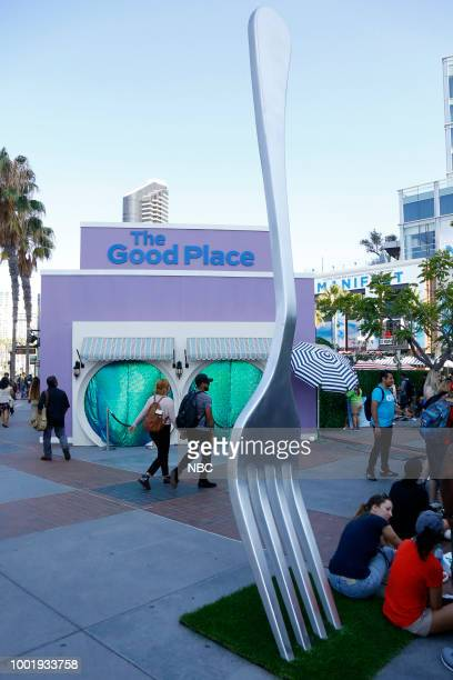 DIEGO 2018 'NBC at ComicCon' Pictured 'The Good Place' Activation at Tin Fish Gaslamp San Diego Calif