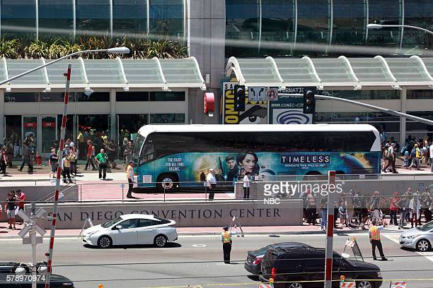 DIEGO 2016 'NBC at ComicCon' Pictured 'Timeless' Bus Wrap San Diego Calif
