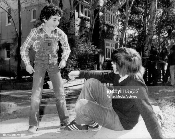 At Currambeena School Lane Cove best friends Beau Cox 10 and Alex Lilic 12 Beau is the one with curly hair August 14 1981