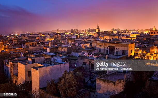 at daybreak in fez (morocco) - morocco stock pictures, royalty-free photos & images