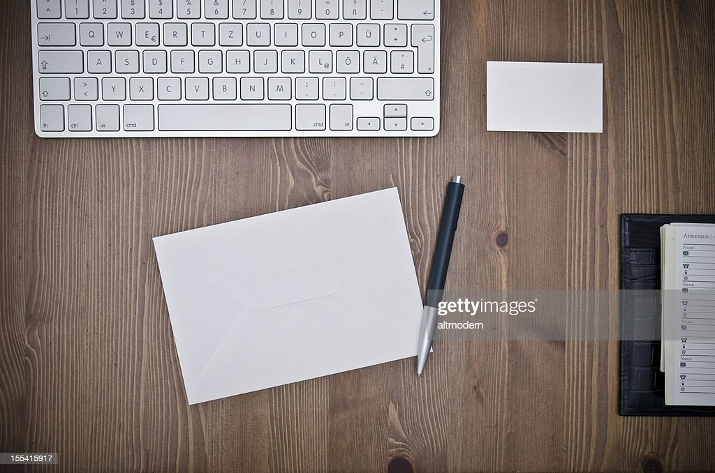 at desk : Stock Photo