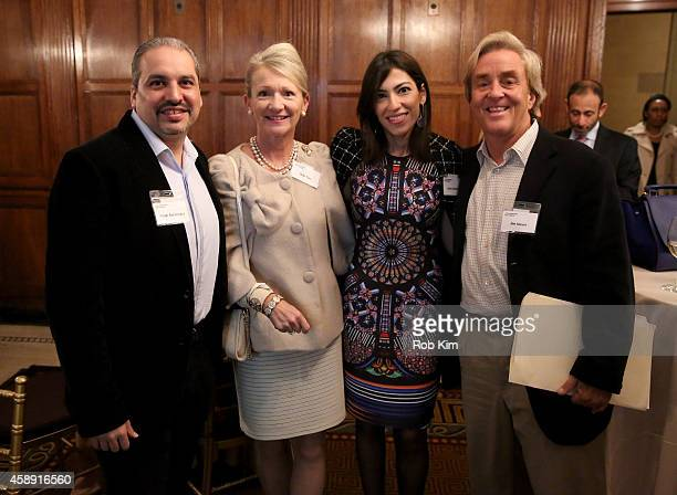 COO at DonorsChooseorg Cesar Bocanegra Debi Tate Founder and CEO of Common Sense James Streyer and Heba Abedin attend Touchscreen Generation How...