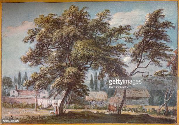 At Englefield Green, c18th century. Englefield Green is a large village in northern Surrey, England. From The Connoisseur Vol LXVIII [Otto Limited,...