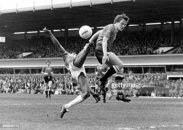 At full stretch Birmingham City's Howard Gayle makes an acrobatic attempt to find a way through Swansea's defence On this occasion he was...