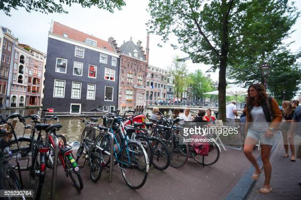 At gracht and canal in Amsterdam