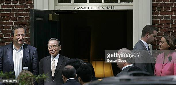 At Harvard University, Vietnam's Prime Minister Phan Van Khai, on the right, who is on an American tour. It's the first time a Vietnamese head of...