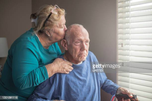 at home care giver - dementia stock pictures, royalty-free photos & images