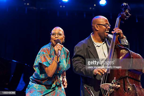 At 'Jazz For Obama 2012 The Jazz Concert For America's Future' American musicians Dee Dee Bridgewater on vocals and and Christian McBride on upright...