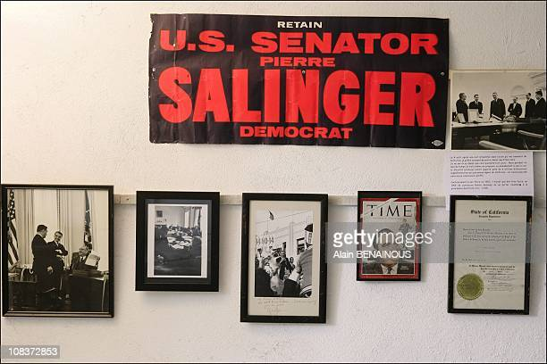 At La Bastide Rose, in the museum created in tribute to Pierre Salinger who was senator of California for three months in Avignon, France on...