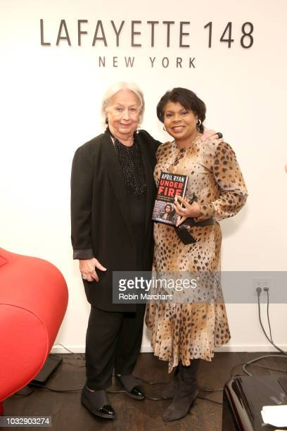 CEO at Lafayette148 Barbara Gast and author and journalist April Ryan pose at Lafayette 148 New York x April Ryan Under Fire Book Launch on September...