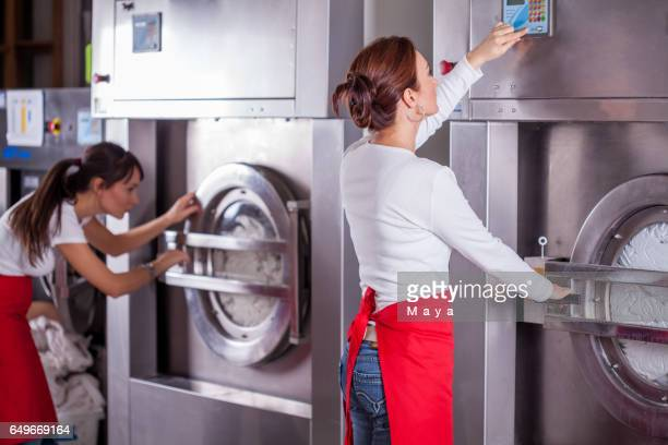 at laundry service. - dry cleaned stock pictures, royalty-free photos & images