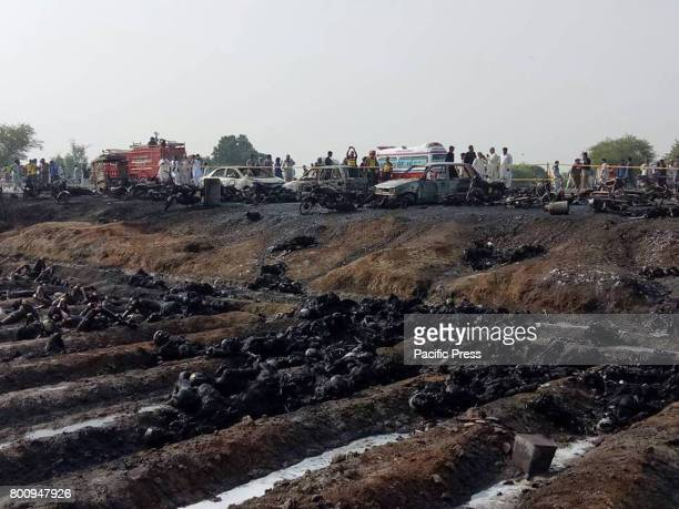 At least 146 people were killed and scores injured in a fire that broke out after an oil tanker overturned in Ahmad Pur Sharqia area of Bahawalpur,...