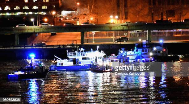 At least 2 dead as helicopter crashes into New York City's East River on March 11 2018 in New York City